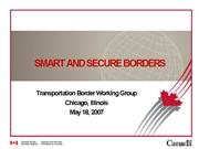 Smart and Secure Borders no notes