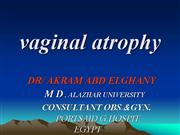 vaginal atrophy Elghany
