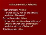 attitude behavior relations
