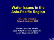 6 Water issues in the Asia Pacific region