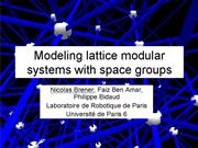 Brener modelling lattice modular systems with spac