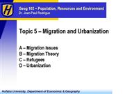 Geog 102 Topic 5