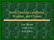 North Carolina Landforms Weather and Climate