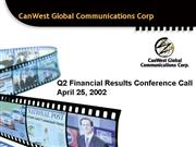 Q2 Conf Call presentation April 25th Web Version