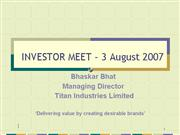 HSBCInvestorMeetAugu st 07 Websiteversion
