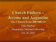 Church Fathers Augustine and Jerome