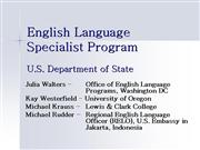 TESOL Presentation for 2007