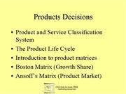 g Product Decision 7