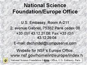 9NSFEuropeOfficeGene ral