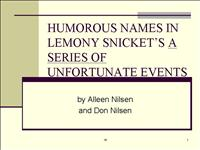 names snicket