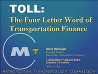 Toll 4 letter word SH TRB2005