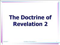 Doctrine of Revelation Part 2