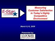 Measuring Customer Satisfaction
