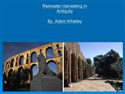 water harvesting in antiquity