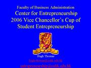 2006 CUHK Business Plan Competition a