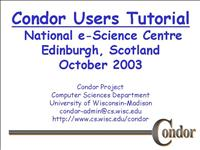 edinburgh condor tutorial