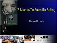 Secrets To Scientific Selling