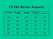 Rev War Ch7 Jeopardy Review