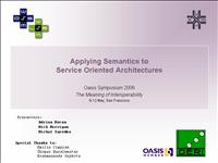 Semantic Service Oriented Architecture Tutorial