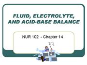 NUR 102 Chapter 14 Fluid and Electrolytes webpage
