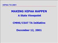 Making HIPAA Happen StateViewpoint1201