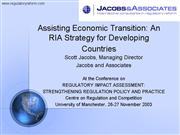 Jacobs RIA in Developing Countries Manchester 26 N