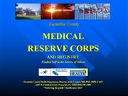 MRC Volunteer Recruitment Presentation Escambia Co