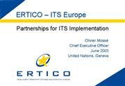 Partnerships ITS implementation
