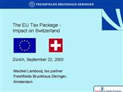 SACC EU Tax Package and Impact on Switzerland 18 9