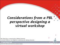 Considerations from a PBL perspective designing vi