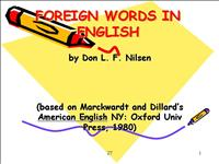 foreign words in english