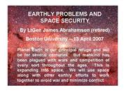 Abrahamson Earthly Problems and Global Security