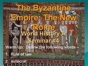 PowerPoint4 The Byzantine Empire