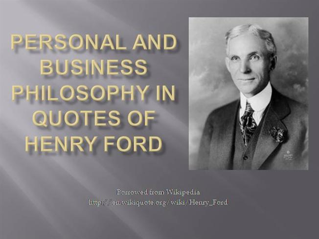 Ford Quote Inspiration Quotes Of Henry Ford Authorstream