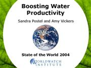 Boosting Water ivity Jan05