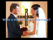 Purpose of Marriage in Christianity & Islam