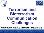 Terrorism Bioterrorism Communication