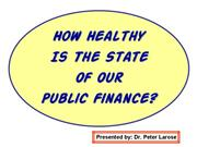 Health of Public Finance