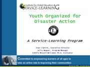Youth Organized for Disaster Action PPP