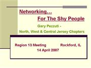Networking For Us Shy People 04 07 Reg 13 Mtg