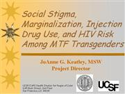 Social Stigma Marginalization Injection Drug Use k