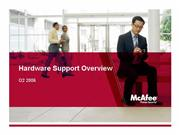 Hardware Support Overview Jan 2007