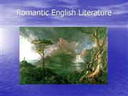 Romantic English Literature