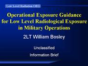 Commanders Brief Low Level Radiation OEG
