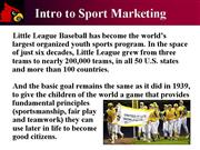 SM Intro to Sport Marketing