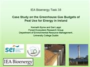 Peatuse for Energy in Ireland