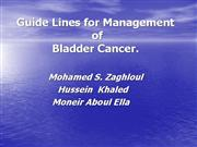 Guide Lines for Bladder Cancer