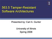 563 5 Tamper Resistant Software Architectures