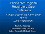 Presentation 2006 RCSW Open Lung Tool in Recruitme