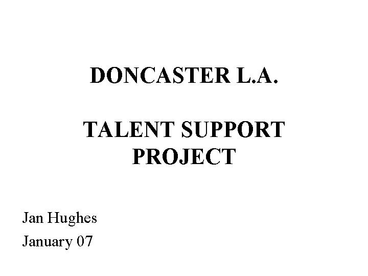 talent support project